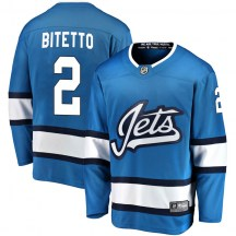 Winnipeg Jets Youth Anthony Bitetto Fanatics Branded Breakaway Blue Alternate Jersey