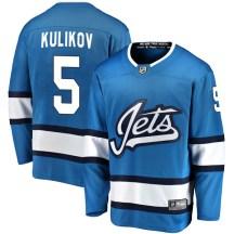 Winnipeg Jets Youth Dmitry Kulikov Fanatics Branded Breakaway Blue Alternate Jersey