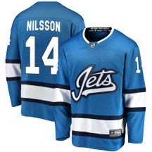 Winnipeg Jets Youth Ulf Nilsson Fanatics Branded Breakaway Blue Alternate Jersey