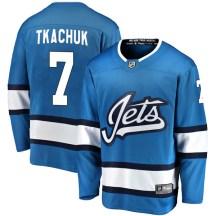 Winnipeg Jets Youth Keith Tkachuk Fanatics Branded Breakaway Blue Alternate Jersey