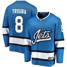 Winnipeg Jets Youth Jacob Trouba Fanatics Branded Breakaway Blue Alternate Jersey
