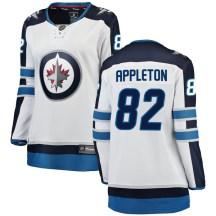 Winnipeg Jets Women's Mason Appleton Fanatics Branded Breakaway White Away Jersey