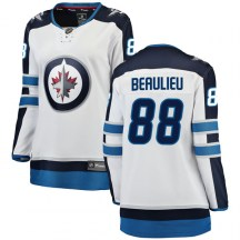 Winnipeg Jets Women's Nathan Beaulieu Fanatics Branded Breakaway White Away Jersey