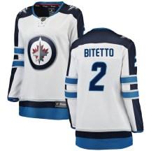 Winnipeg Jets Women's Anthony Bitetto Fanatics Branded Breakaway White Away Jersey