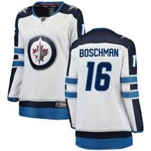 Winnipeg Jets Women's Laurie Boschman Fanatics Branded Breakaway White Away Jersey