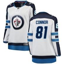 Winnipeg Jets Women's Kyle Connor Fanatics Branded Breakaway White Away Jersey