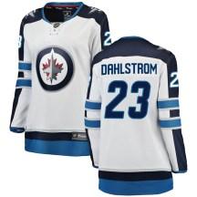 Winnipeg Jets Women's Carl Dahlstrom Fanatics Branded Breakaway White Away Jersey