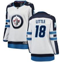 Winnipeg Jets Women's Bryan Little Fanatics Branded Breakaway White Away Jersey