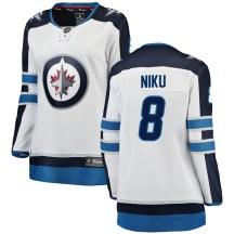 Winnipeg Jets Women's Sami Niku Fanatics Branded Breakaway White Away Jersey