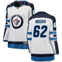 Winnipeg Jets Women's Nelson Nogier Fanatics Branded Breakaway White Away Jersey