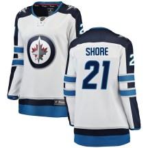 Winnipeg Jets Women's Nick Shore Fanatics Branded Breakaway White Away Jersey