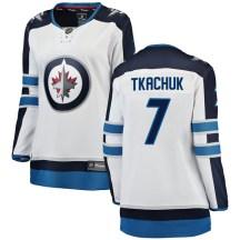 Winnipeg Jets Women's Keith Tkachuk Fanatics Branded Breakaway White Away Jersey