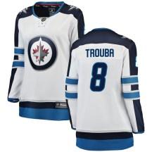 Winnipeg Jets Women's Jacob Trouba Fanatics Branded Breakaway White Away Jersey
