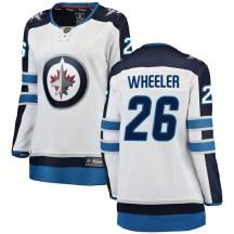 Winnipeg Jets Women's Blake Wheeler Fanatics Branded Breakaway White Away Jersey