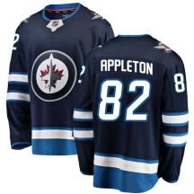 Winnipeg Jets Youth Mason Appleton Fanatics Branded Breakaway Blue Home Jersey