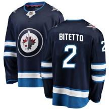 Winnipeg Jets Youth Anthony Bitetto Fanatics Branded Breakaway Blue Home Jersey
