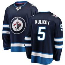 Winnipeg Jets Youth Dmitry Kulikov Fanatics Branded Breakaway Blue Home Jersey
