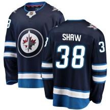 Winnipeg Jets Youth Logan Shaw Fanatics Branded Breakaway Blue Home Jersey