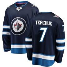 Winnipeg Jets Youth Keith Tkachuk Fanatics Branded Breakaway Blue Home Jersey