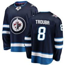 Winnipeg Jets Youth Jacob Trouba Fanatics Branded Breakaway Blue Home Jersey