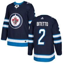 Winnipeg Jets Men's Anthony Bitetto Adidas Authentic Navy Home Jersey