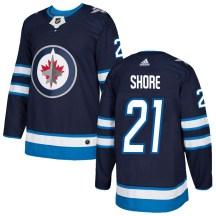 Winnipeg Jets Men's Nick Shore Adidas Authentic Navy Home Jersey