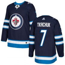 Winnipeg Jets Men's Keith Tkachuk Adidas Authentic Navy Home Jersey