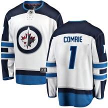 Winnipeg Jets Men's Eric Comrie Fanatics Branded Breakaway White Away Jersey