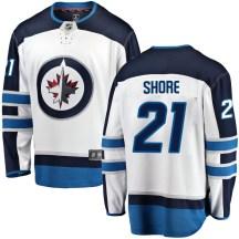 Winnipeg Jets Men's Nick Shore Fanatics Branded Breakaway White Away Jersey