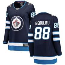 Winnipeg Jets Women's Nathan Beaulieu Fanatics Branded Breakaway Blue Home Jersey
