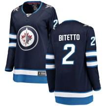 Winnipeg Jets Women's Anthony Bitetto Fanatics Branded Breakaway Blue Home Jersey