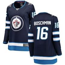 Winnipeg Jets Women's Laurie Boschman Fanatics Branded Breakaway Blue Home Jersey