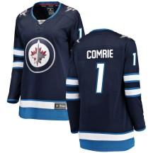 Winnipeg Jets Women's Eric Comrie Fanatics Branded Breakaway Blue Home Jersey