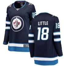 Winnipeg Jets Women's Bryan Little Fanatics Branded Breakaway Blue Home Jersey