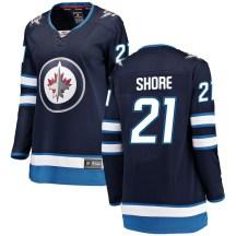 Winnipeg Jets Women's Nick Shore Fanatics Branded Breakaway Blue Home Jersey