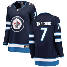 Winnipeg Jets Women's Keith Tkachuk Fanatics Branded Breakaway Blue Home Jersey