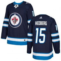 Winnipeg Jets Youth Anders Hedberg Adidas Authentic Navy Home Jersey