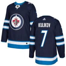 Winnipeg Jets Youth Dmitry Kulikov Adidas Authentic Navy Home Jersey