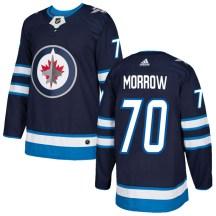 Winnipeg Jets Youth Joe Morrow Adidas Authentic Navy Home Jersey