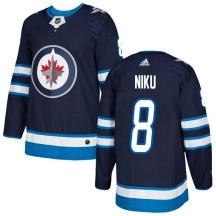 Winnipeg Jets Youth Sami Niku Adidas Authentic Navy Home Jersey