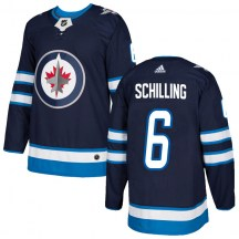 Winnipeg Jets Youth Cameron Schilling Adidas Authentic Navy Home Jersey