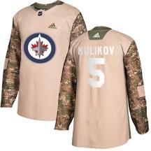 Winnipeg Jets Men's Dmitry Kulikov Adidas Authentic Camo Veterans Day Practice Jersey
