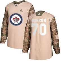 Winnipeg Jets Men's Joe Morrow Adidas Authentic Camo Veterans Day Practice Jersey