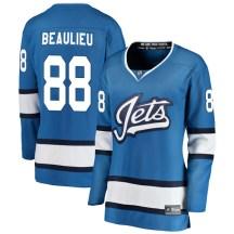 Winnipeg Jets Women's Nathan Beaulieu Fanatics Branded Breakaway Blue Alternate Jersey