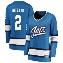 Winnipeg Jets Women's Anthony Bitetto Fanatics Branded Breakaway Blue Alternate Jersey