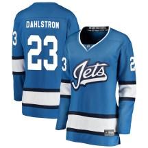 Winnipeg Jets Women's Carl Dahlstrom Fanatics Branded Breakaway Blue Alternate Jersey