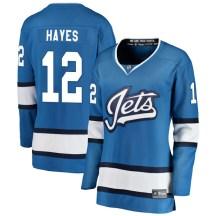 Winnipeg Jets Women's Kevin Hayes Fanatics Branded Breakaway Blue Alternate Jersey