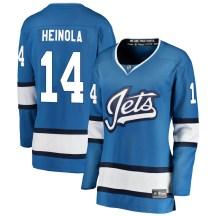 Winnipeg Jets Women's Ville Heinola Fanatics Branded Breakaway Blue Alternate Jersey