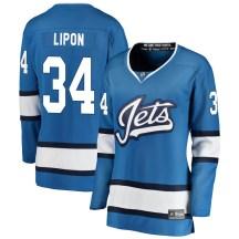 Winnipeg Jets Women's J.C. Lipon Fanatics Branded Breakaway Blue Alternate Jersey