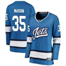 Winnipeg Jets Women's Steve Mason Fanatics Branded Breakaway Blue Alternate Jersey